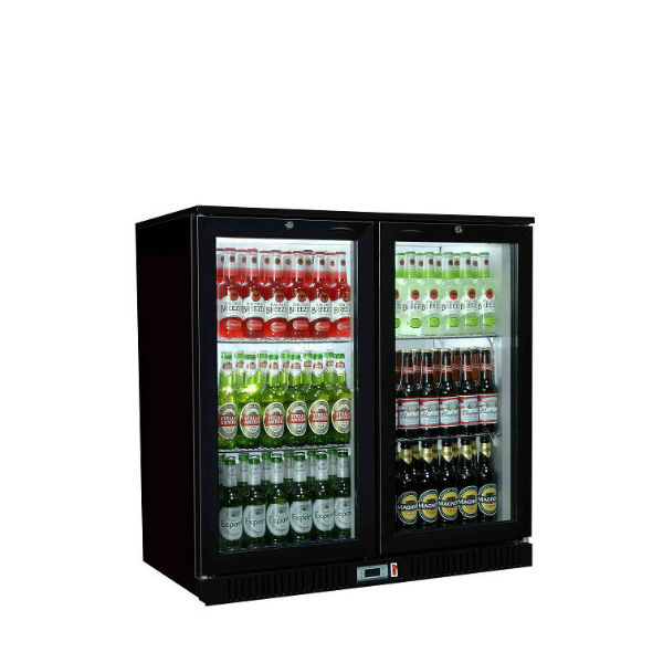 Back Bar Bottle Coolers Double Door