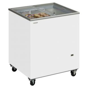 Tefcold IC200SC Sliding Flat Glass Lid Chest Freezer 191ltrs