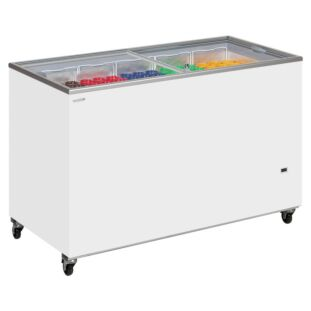 Tefcold IC400SC Sliding Flat Glass Lid Chest Freezer Stocked