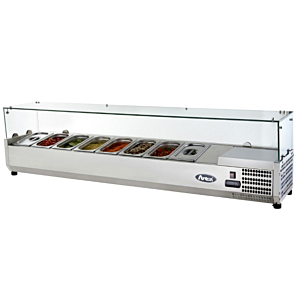 Atosa VRX1200/330 Countertop Topping Unit with 5 x 1/4 GN Pans/Lids