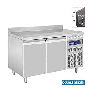 Diamond DT131/R2A 2 Door Refrigerated Counter with Splashback 260 Litres