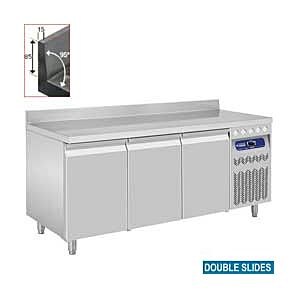Diamond DT178/R2A 3 Door Refrigerated Counter with Splashback 405 Litres