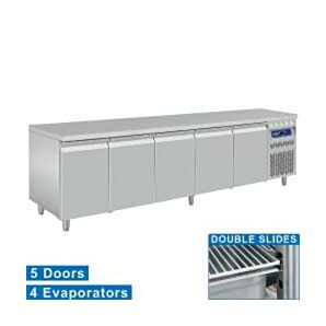 Diamond DT274/R2 5 Door Refrigerated Counter 700 Litres