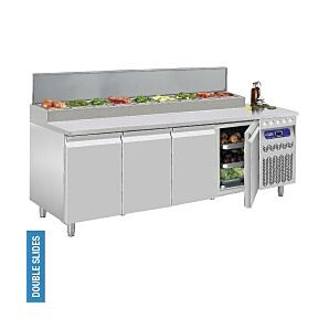 Diamond DTS-10/R2 4 Door Refrigerated Pizza Prep Counter 550 Litres