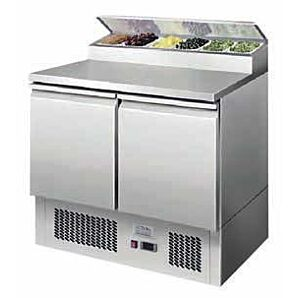 Ice-A-Cool ICE3832GR 2 Door Refrigerated Saladette Prep Counter, 300ltrs