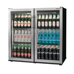 Autonumis RHC00008 Maxi Double Stainless Steel Hinged Doors Bottle Cooler