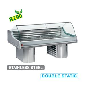 Diamond SG25B/A1-R2 Refrigerated Display Counter with curved glass