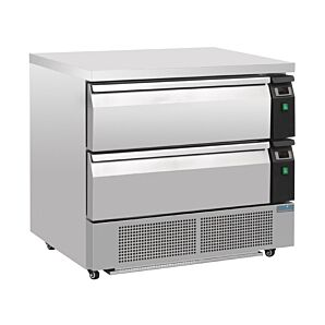 Polar DA996 Double Drawer Counter Fridge/Freezer 2 x GN