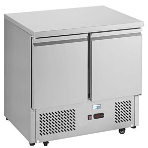 Interlevin ESL900 Stainless Steel Double Door Refrigerated Counter 300ltrs