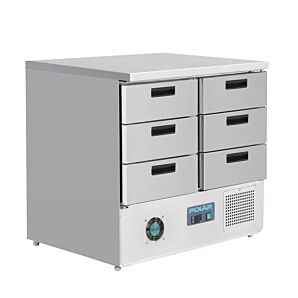 Polar FA440 G-Series Refrigerated Counter w/ 6 Drawers, 240ltrs
