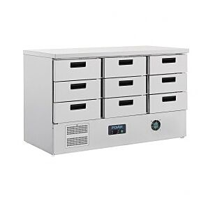 Polar FA441 G-Series Refrigerated Counter w/ 9 Drawers, 368ltrs