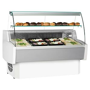 Frilixa PRIMA 100 White Curved Glass Serve Over Counter