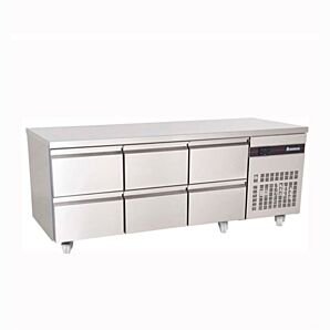 Inomak PN222-ECO 6 Drawer 1/1 Gastronorm Refrigerated Counter 429L