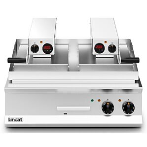 Lincat OE8210/R Opus 800 Electric Counter-Top Clam Griddle w/ Ribbed Upper Plate 17.2kW
