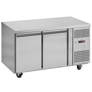 Interlevin PH20 Stainless Steel Double Door Gastronorm Refrigerated Counter 280ltrs