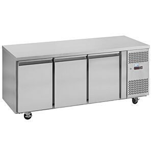 Interlevin PH30 Stainless Steel Triple Door Gastronorm Counter Refrigerator 420ltrs