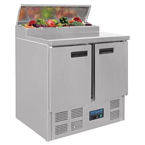 Polar G604 Pizza Prep Counter Fridge, 254ltrs