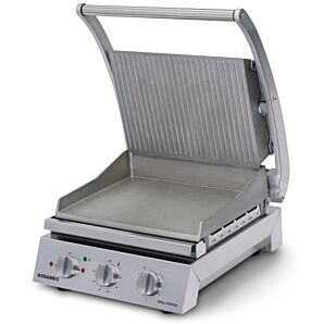 Roband GSA610R 6 Slice Grill Station with Ribbed Top Plate