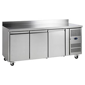 Tefcold CF7310P Stainless Steel Triple Door Gastronorm Counter Freezer 417ltrs