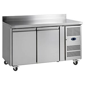 Tefcold CK7210B Stainless Steel Double Door Gastronorm Refrigerated Counter 282ltrs