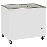 Tefcold IC300SC Sliding Flat Glass Lid Chest Freezer 296ltrs