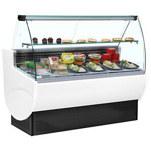 Trimco TAVIRA II 130 White Curved Range Service Display 881ltrs